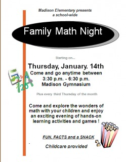 Picture Family Math Night